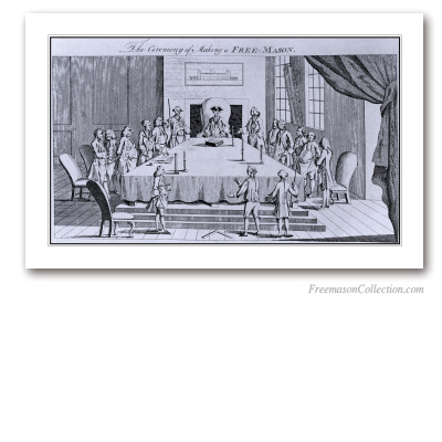 The Ceremony of Making a Free-Mason. Masonic Art