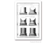 Orders of Architecture: Bases.Encyclopédie Diderot & d'Alembert, 1751-1777