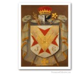 Grand Inspector Inquisitor Commandor Symbolic Coat of Arms. Edición sobre Lienzo de Artista. Masonería