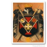 Prince of The Royal Secret Symbolic Coat of Arms. Masonería